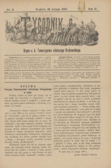 Tygodnik Rolniczy : Organ c. k. Towarzystwa rolniczego Krakowskiego. R.2, nr 9 (28 lutego 1885)
