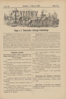 Tygodnik Rolniczy : Organ c. k. Towarzystwa rolniczego Krakowskiego. R.2, nr 10 (7 marca 1885)