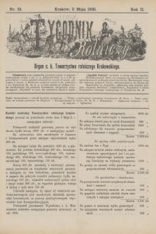 Tygodnik Rolniczy : Organ c. k. Towarzystwa rolniczego Krakowskiego. R.2, nr 19 (9 maja 1885)