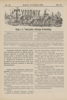 Tygodnik Rolniczy : Organ c. k. Towarzystwa rolniczego Krakowskiego. R.2, nr 24 (13 czerwca1885)