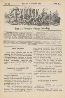 Tygodnik Rolniczy : Organ c. k. Towarzystwa rolniczego Krakowskiego. R.2, nr 32 (8 sierpnia 1885)