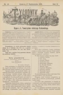 Tygodnik Rolniczy : Organ c. k. Towarzystwa rolniczego Krakowskiego. R.2, nr 42 (17 października 1885)