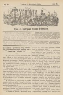 Tygodnik Rolniczy : Organ c. k. Towarzystwa rolniczego Krakowskiego. R.2, nr 45 (6 listopada 1885)