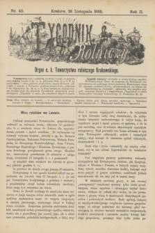 Tygodnik Rolniczy : Organ c. k. Towarzystwa rolniczego Krakowskiego. R.2, nr 48 (28 listopada 1885)