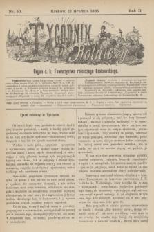 Tygodnik Rolniczy : Organ c. k. Towarzystwa rolniczego Krakowskiego. R.2, nr 50 (12 grudnia 1885)