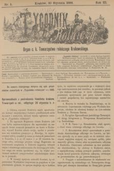 Tygodnik Rolniczy : Organ c. k. Towarzystwa rolniczego Krakowskiego. R.3, nr 5 (30 stycznia 1886)