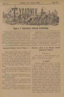 Tygodnik Rolniczy : Organ c. k. Towarzystwa rolniczego Krakowskiego. R.3, nr 8 (20 lutego 1886)