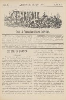 Tygodnik Rolniczy : Organ c. k. Towarzystwa rolniczego Krakowskiego. R.4, nr 9 (26 lutego 1887)