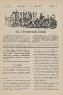 Tygodnik Rolniczy : Organ c. k. Towarzystwa rolniczego Krakowskiego. R.4, nr 24 (11 czerwca 1887)