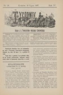 Tygodnik Rolniczy : Organ c. k. Towarzystwa rolniczego Krakowskiego. R.4, nr 29 (16 lipca 1887)
