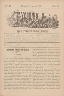 Tygodnik Rolniczy : Organ c. k. Towarzystwa rolniczego Krakowskiego. R.6, nr 27 (6 lipca 1889)