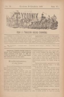 Tygodnik Rolniczy : Organ c. k. Towarzystwa rolniczego Krakowskiego. R.6, nr 52 (28 grudnia 1889)