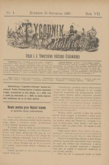 Tygodnik Rolniczy : Organ c. k. Towarzystwa rolniczego Krakowskiego. R.7, nr 4 (25 stycznia 1890)
