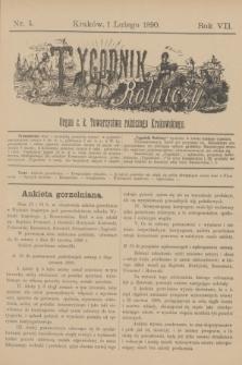 Tygodnik Rolniczy : Organ c. k. Towarzystwa rolniczego Krakowskiego. R.7, nr 5 (1 lutego 1890)