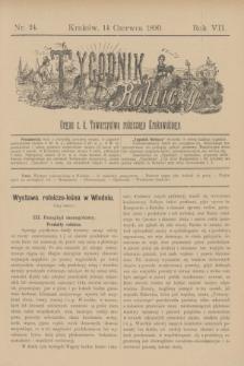 Tygodnik Rolniczy : Organ c. k. Towarzystwa rolniczego Krakowskiego. R.7, nr 24 (14 czerwca 1890)