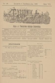 Tygodnik Rolniczy : Organ c. k. Towarzystwa rolniczego Krakowskiego. R.7, nr 40 (4 października 1890)