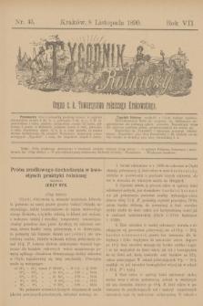 Tygodnik Rolniczy : Organ c. k. Towarzystwa rolniczego Krakowskiego. R.7, nr 45 (8 listopada 1890)