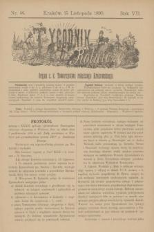 Tygodnik Rolniczy : Organ c. k. Towarzystwa rolniczego Krakowskiego. R.7, nr 46 (15 listopada 1890)