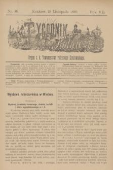 Tygodnik Rolniczy : Organ c. k. Towarzystwa rolniczego Krakowskiego. R.7, nr 48 (29 listopada 1890)