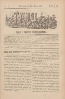 Tygodnik Rolniczy : Organ c. k. Towarzystwa rolniczego Krakowskiego. R.8, nr 52 (24 grudnia 1891)