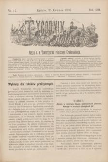 Tygodnik Rolniczy : Organ c. k. Towarzystwa rolniczego Krakowskiego. R.13, nr 17 (25 kwietnia 1896)