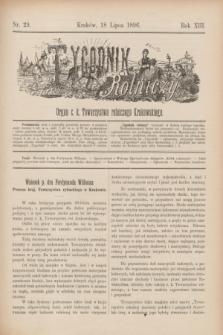 Tygodnik Rolniczy : Organ c. k. Towarzystwa rolniczego Krakowskiego. R.13, nr 29 (18 lipca 1896)