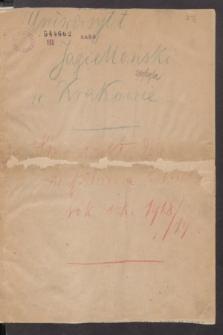 Spis wykładów w półroczu letniem : rok szkolny 1918/19