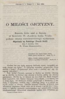 Przegląd Poznański : pismo sześciotygodniowe. T.37, Poszyt 1 (półrocze pierwsze 1864)