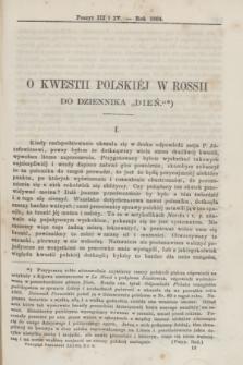 Przegląd Poznański : pismo sześciotygodniowe. T.37, Poszyt 3/4 (półrocze pierwsze 1864)