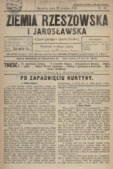Ziemia Rzeszowska i Jarosławska : czasopismo narodowe. 1923, nr52