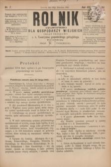 Rolnik : czasopismo dla gospodarzy wiejskich : organ urzędowy c. k. Towarzystwa gospodarskiego galicyjskiego. R.16, T.32, Nr. 7 (20 kwietnia 1883)