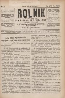 Rolnik : tygodnik dla gospodarzy wiejskich : organ urzędowy c. k. Towarzystwa gospodarskiego galicyjskiego. R.17, T.34, Nr. 11 (15 marca 1884)