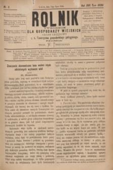Rolnik : tygodnik dla gospodarzy wiejskich : organ urzędowy c. k. Towarzystwa gospodarskiego galicyjskiego. R.17, T.35, Nr. 3 (19 lipca 1884)