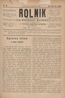 Rolnik : tygodnik dla gospodarzy wiejskich : organ urzędowy c. k. Towarzystwa gospodarskiego galicyjskiego. R.17, T.35, Nr. 14 (4 października 1884)