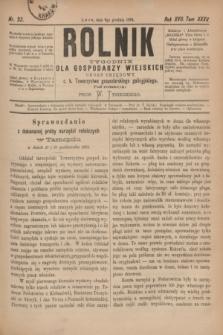 Rolnik : tygodnik dla gospodarzy wiejskich : organ urzędowy c. k. Towarzystwa gospodarskiego galicyjskiego. R.17, T.35, Nr. 23 (6 grudnia 1884)