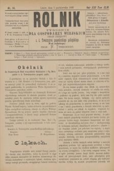 Rolnik : tygodnik dla gospodarzy wiejskich : organ urzędowy c. k. Towarzystwa gospodarskiego galicyjskiego. R.22, T.44, Nr. 14 (5 października 1889)