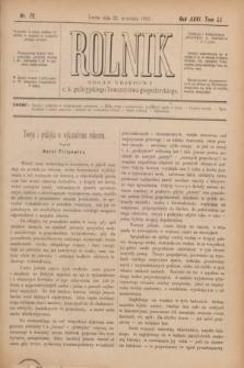 Rolnik : organ urzędowy c. k. galicyjskiego Towarzystwa gospodarskiego. R.26, T.51 [i.e.52], Nr. 12 (23 września 1893)