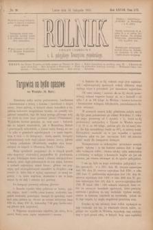 Rolnik : organ urzędowy c. k. galicyjskiego Towarzystwa gospodarskiego. R.28, T.56, Nr. 20 (16 listopada 1895)