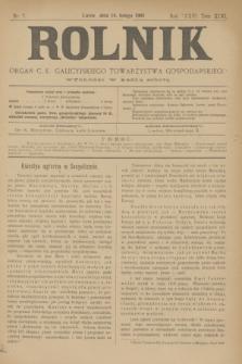 Rolnik : organ c. k. galicyjskiego Towarzystwa gospodarskiego. R.36, T.66 [!], Nr. 7 (14 lutego 1903)
