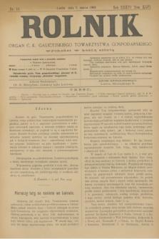 Rolnik : organ c. k. galicyjskiego Towarzystwa gospodarskiego. R.36, T.66 [!], Nr. 10 (7 marca 1903)