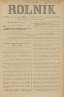 Rolnik : organ c. k. galicyjskiego Towarzystwa gospodarskiego. R.36, T.66 [!], Nr. 11 (14 marca 1903)