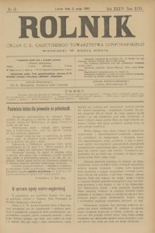 Rolnik : organ c. k. galicyjskiego Towarzystwa gospodarskiego. R.36, T.66 [!], Nr. 18 (2 maja 1903)