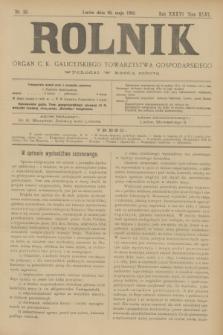 Rolnik : organ c. k. galicyjskiego Towarzystwa gospodarskiego. R.36, T.66 [!], Nr. 20 (16 maja 1903)