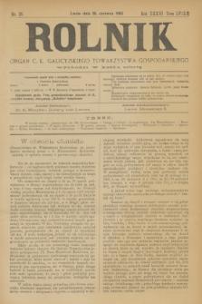Rolnik : organ c. k. galicyjskiego Towarzystwa gospodarskiego. R.36, T.66 [!], Nr. 25 (20 czerwca 1903)