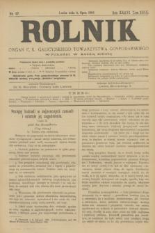 Rolnik : organ c. k. galicyjskiego Towarzystwa gospodarskiego. R.36, T.66 [!], Nr. 27 (4 lipca 1903)