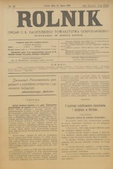 Rolnik : organ c. k. galicyjskiego Towarzystwa gospodarskiego. R.36, T.66 [!], Nr. 29 (18 lipca 1903)