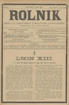 Rolnik : organ c. k. galicyjskiego Towarzystwa gospodarskiego. R.36, T.66 [!], Nr. 30 (25 lipca 1903)