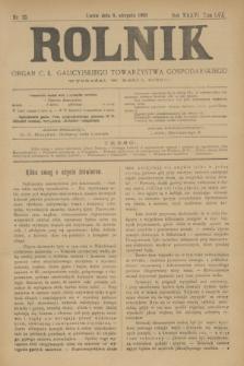 Rolnik : organ c. k. galicyjskiego Towarzystwa gospodarskiego. R.36, T.66 [!], Nr. 32 (8 sierpnia 1903)