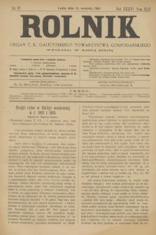 Rolnik : organ c. k. galicyjskiego Towarzystwa gospodarskiego. R.36, T.66 [!], Nr. 37 (14 września 1903)
