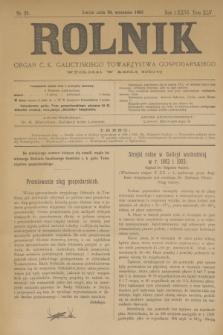 Rolnik : organ c. k. galicyjskiego Towarzystwa gospodarskiego. R.36, T.66 [!], Nr. 38 (19 września 1903) + dod.